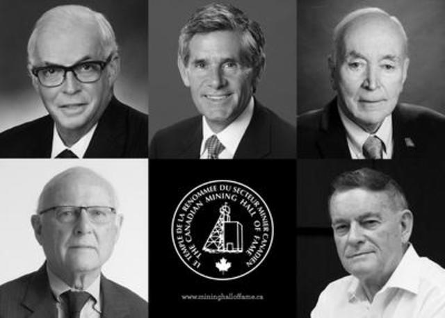 The 2017 Class of Inductees will be honoured at the 29th Annual Canadian Mining Hall of Fame Dinner and Induction Ceremony in Toronto. (CNW Group/Canadian Mining Hall of Fame)