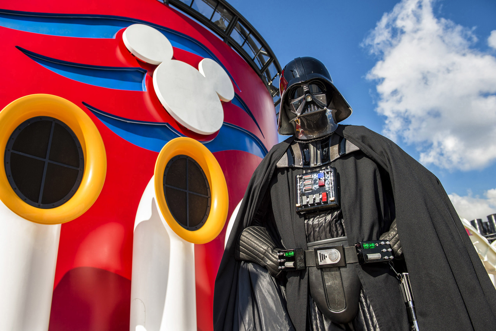 Disney Cruise Line guests can experience the legendary adventures and iconic characters from the Star Wars saga aboard the Disney Fantasy in a day-long celebration: Star Wars Day at Sea. The event combines the power of the Force, the magic of Disney and the excitement of cruising for an out-of-this-galaxy experience unlike any other. (Matt Stroshane, photographer)