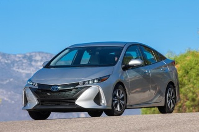 The 2017 Toyota Prius Prime, built using the Toyota New Global Architecture (TNGA) platform, offers an all-new aerodynamic exterior, a premium interior, an impressive long list of equipment and advanced technologies included as standard and an amazing combined fuel consumption of 1.8 Le/100 km. (CNW Group/Toyota Canada Inc.)