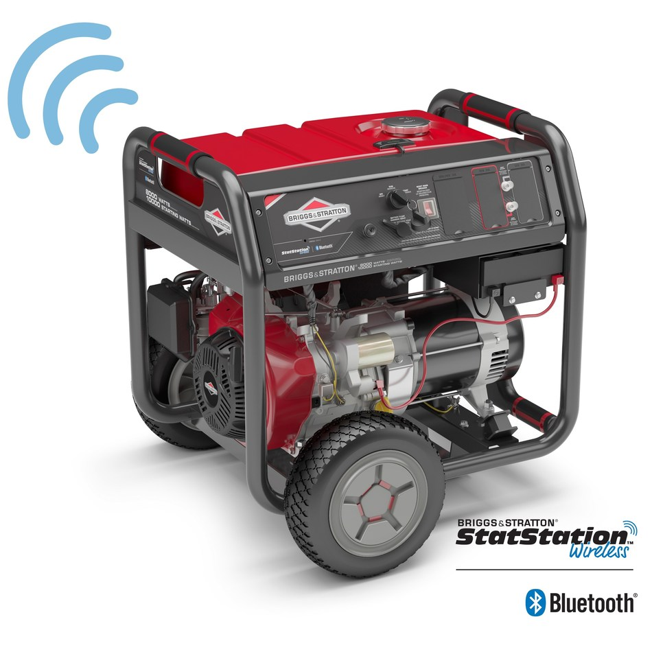 The new Briggs & Stratton 8,000 Watt Elite Series(TM) Portable Generator with StatStation(R) Wireless is now available for purchase on Amazon.com and HomeDepot.com. Featuring Bluetooth technology, users can connect with their smartphones to monitor power usage, run time, fuel level and more in real time, from the comfort of their home with the free, easy-to-use StatStation Wireless by Briggs & Stratton App.