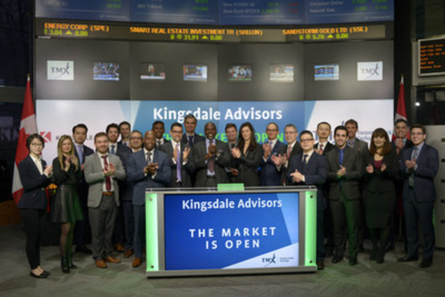 Wes Hall, Chairman and Founder of Kingsdale Advisors joined Ungad Chadda, President, Capital Formation, Equity Capital Markets, TMX Group to open the market. Kingsdale Advisors, formerly Kingsdale Shareholder Services, is approaching its 15thanniversary as an advisor to public company boards and management on all shareholder, governance, and transaction related matters. Kingsdale Advisors' multidisciplinary team offers an array of specialized services focused on strategic and defensive advisory, governance advisory and proxy analytics, and strategic communications. (CNW Group/TMX Group Limited)