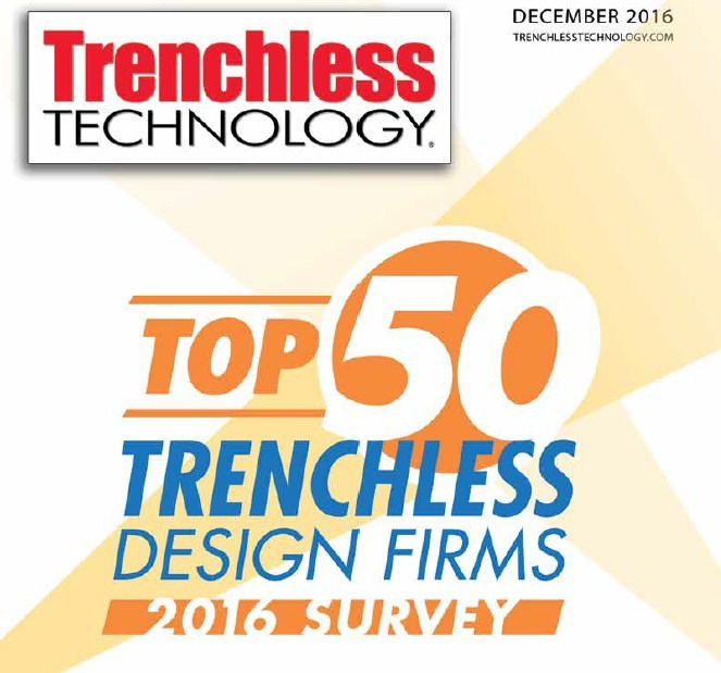 For the second consecutive year, CH2M earned the top spot on Trenchless Technology's Top 50 Trenchless Engineering Design Firms list. The firm has topped the list in six of the last seven years.