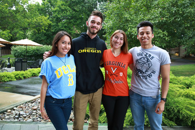 Previous recipients of the Cooke Undergraduate Transfer Scholarship at Scholars Weekend 2016
