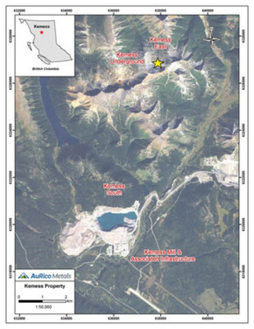 Figure 2: Kemess Property Map (CNW Group/AuRico Metals)