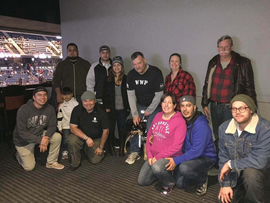 A group of injured veterans witnessed nonstop action on the ice during a recent Wounded Warrior Project(R) (WWP) outing to see the Ontario Reign take on the Stockton Heat.