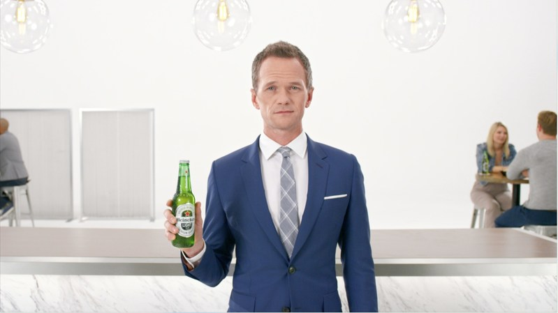 Neil Patrick Harris Hypnotizes Viewers in First Heineken(R) Light Commercial of 2017