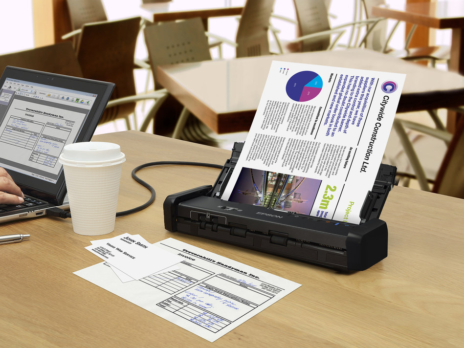 Epson DS-320 Portable Document Scanner with Auto Document Feeder (ADF)