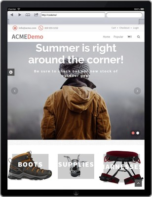 Commerce on the mobile site