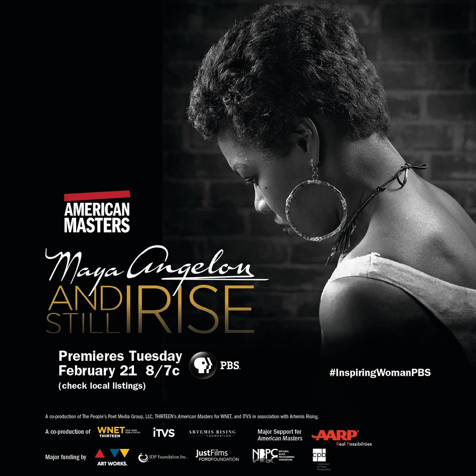 """American Masters - Maya Angelou: And Still I Rise"" premieres nationwide Tuesday, February 21 at 8pm on PBS (check local listings) during Black History Month as part of the 31st season of THIRTEEN's ""American Masters"" series. This is the first feature documentary about the prolific life of the ""I Know Why the Caged Bird Sings"" author and activist, who inspired generations with lyrical modern African-American thought. For more information, visit http://pbs.org/americanmasters"