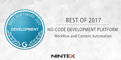 "The Nintex Workflow Platform is part of G2 Crowd's ""Best Software for Development Teams 