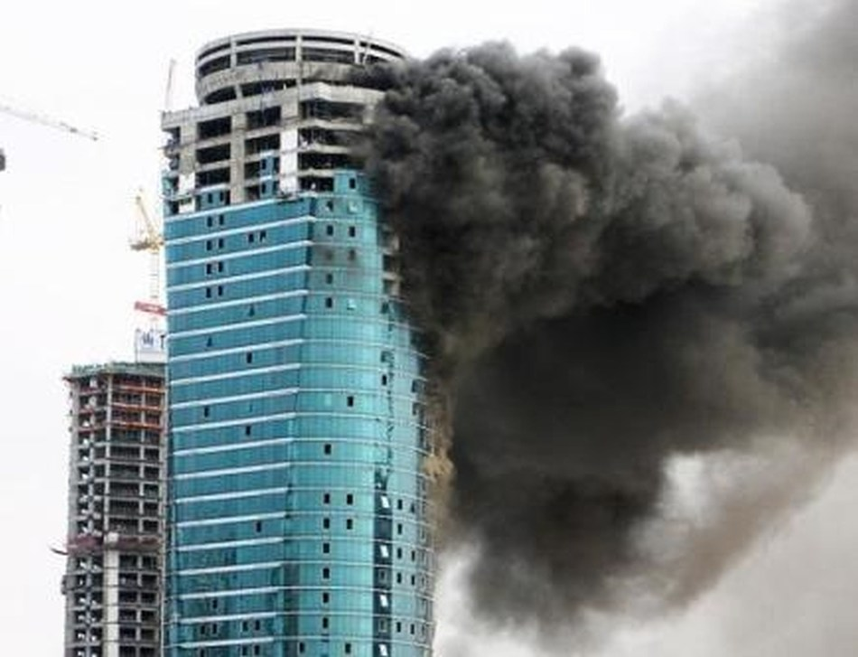 Fortune Tower Fire (PRNewsFoto/UBM EMEA)