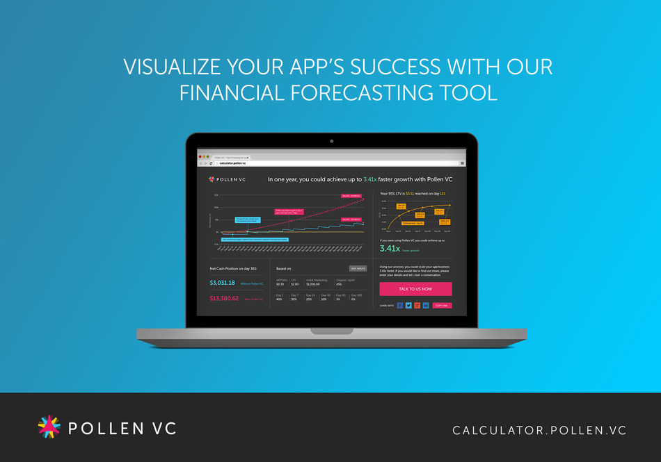 Screenshot of Financial Forecasting Tool (PRNewsFoto/Pollen VC)