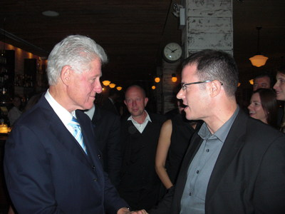 Former US President Bill Clinton with AGF Founder Gregory Grene