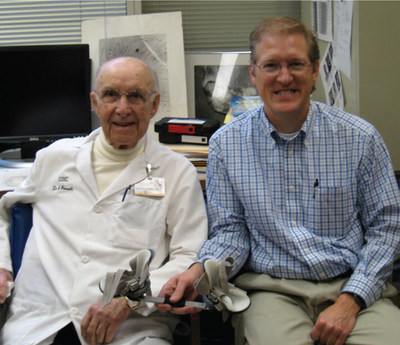 Dr. Ponseti is developer of the Ponseti Method to treat clubfoot and John Mitchell is the inventor of the Ponseti AFO.
