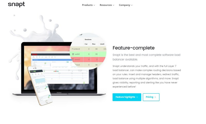 Snapt's new website is simple, clear, and talks directly to DevOps.