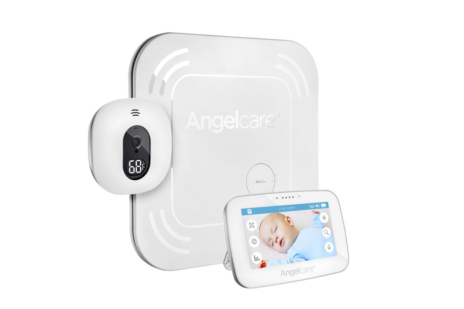 "Angelcare AC417 Baby Movement Monitor with 4.3"" Touchscreen Display and Wireless Sensor Pad"