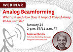 Peregrine Semiconductor Announces Webinar on Analog Beamforming