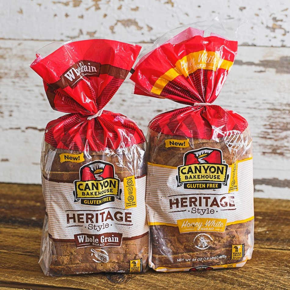 Canyon Bakehouse, a Colorado-based gluten-free bakery, launches two new big-slice loaves. The first of its kind for gluten-free bread, Heritage Style loaves are available in Honey White and Whole Grain.