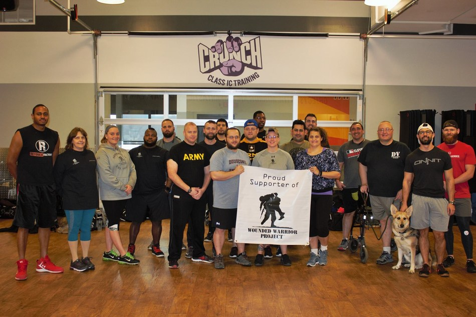 During a recent Wounded Warrior Project(R) (WWP) fitness workshop, injured veterans tried the popular workout known as TRX (Total Body Resistance Exercise).