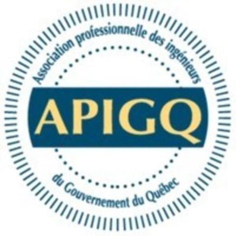 Logo: Association professionnelle des ingénieurs du gouvernement du Québec (Groupe CNW/Association professionnelle des ingénieurs du gouvernement du Québec (APIGQ))