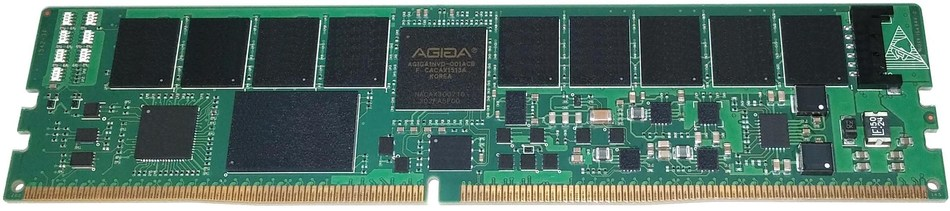 Pictured is AgigA Tech's AGIGARAM family of JEDEC-compliant DDR4 NVDIMM-N solutions for high-performance persistent memory for enterprise-class storage and server applications.