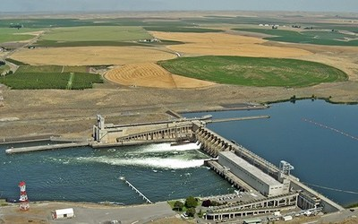 Ice Harbor Dam on the Lower Snake River in Washington State