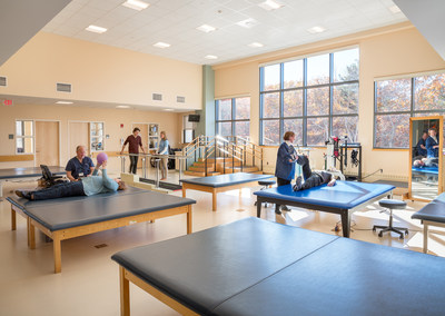 Margulies Perruzzi Architects completed a two-story, 6,230 SF addition and renovated 12,800 SF of space at Spaulding Rehabilitation Hospital Cape Cod in Sandwich, Mass. The expansion of the 76,900 SF hospital addresses space constraints, enhancing accessibility and preparing the hospital to meet projected demand for outpatient services as Cape Cod's population ages. The project increases Spaulding's outpatient capacity to accommodate up to 21,000 more visits per year.