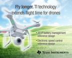 TI technology extends flight time and battery life of quadcopters and industrial drones