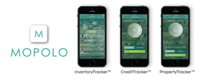 MOPOLO App Trackers allows users to keep a record of their valuables, access their credit score and property evaluation for free. (CNW Group/Mortgage Alliance)