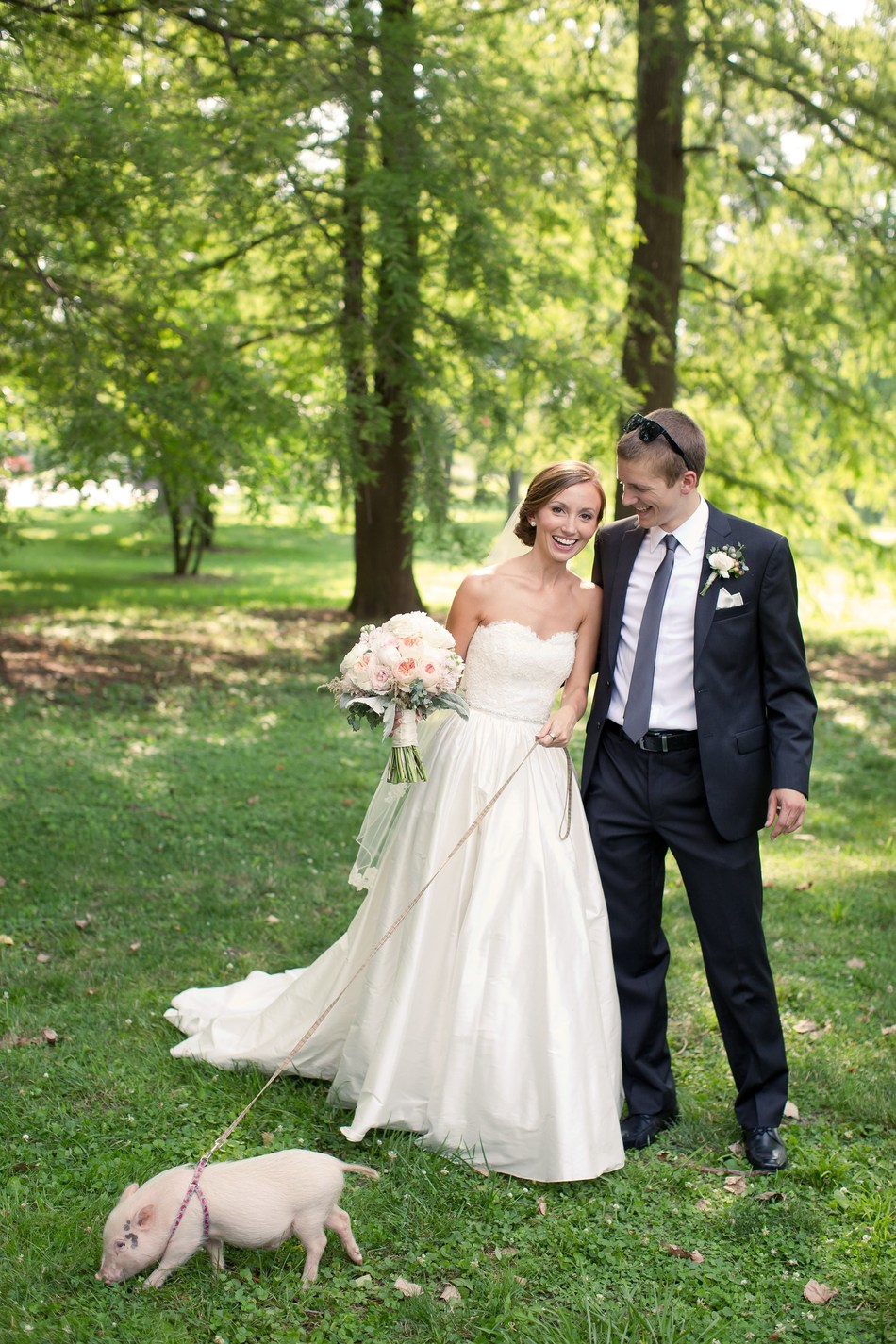 From bunnies and donkeys to llamas and pigs, couples having rustic barn weddings are incorporating farm animals into the wedding day. Photo courtesy of K.Corea Photography and The Knot.