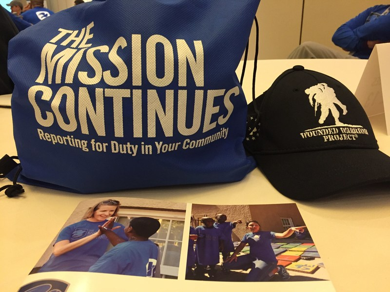 The Mission Continues and Wounded Warrior Project joined forces to beautify a medical facility in Colorado Springs.