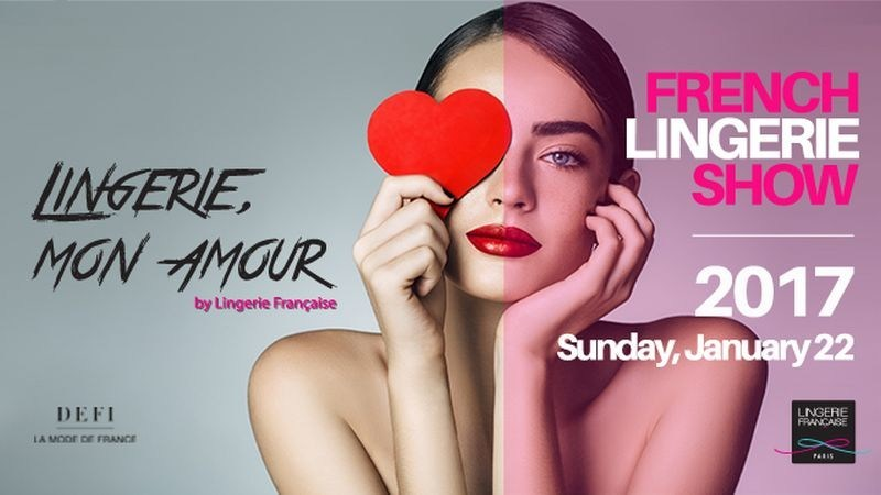 "Fashionistas from around the world will be able to follow the show and after-show ""Lingerie, Mon Amour"" live with backstage access on www.lingeriefrançaise.com, on January 22, 2017 at 7.30 pm (Paris Time) (PRNewsFoto/Promincor-Lingerie Française)"