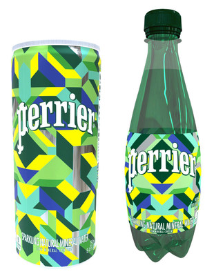 HOTTEA created original designs for Perrier which will be featured on limited edition packaging, available in the U.S. later this year. (Photo by Perrier Sparkling Natural Mineral Water)