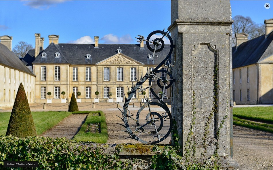 Exterior of the Chateau D' Audrieu where guests will stay as part of the tour.
