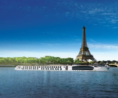 A view of the Eifel Tower as guests will see it as they enter Paris during the exclusive river cruise.