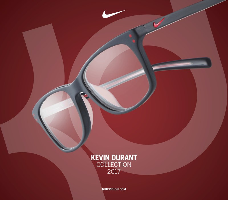 NIKE VISION PARTNERS WITH KEVIN DURANT FOR RELEASE OF 2017 KD SIGNATURE COLLECTION. THE COLLECTION FEATURES NEW OPTICAL STYLES FOR ADULTS AND KIDS, INSPIRED BY KEVIN DURANT.