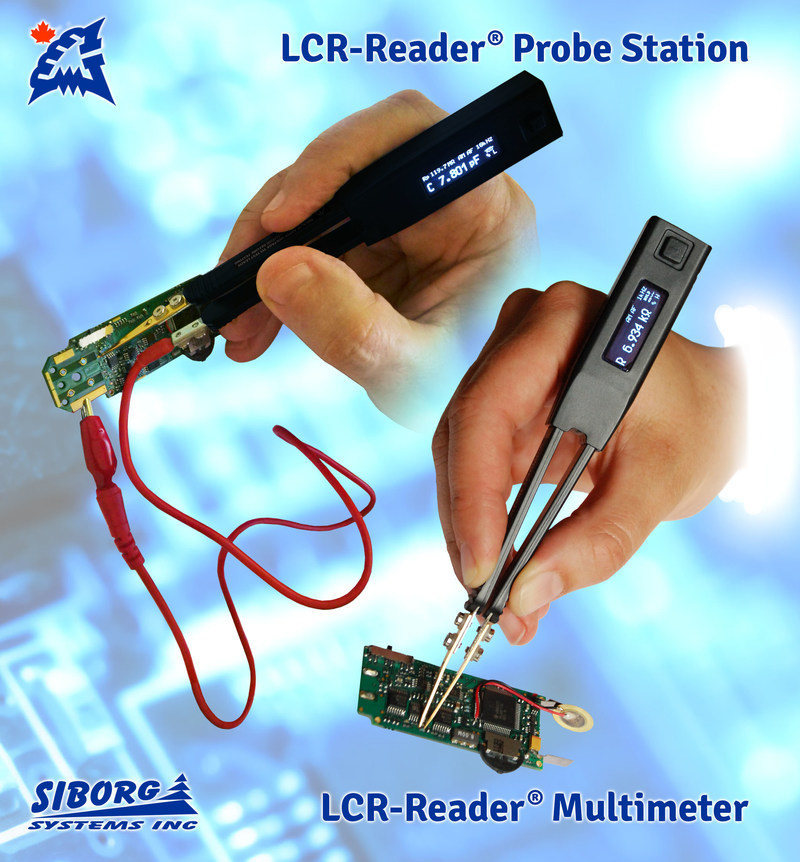 LCR-Reader LCR- and ESR-meter and Kelvin Probe Connector for complete PCB probing with high accuracy