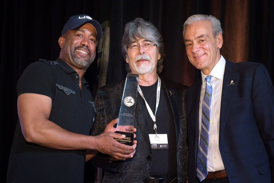 Grammy Award-winning country music artists Darius Rucker and Randy Owen, and Richard Shadyac Jr., President and CEO of ALSAC, the fundraising and awareness organization for St. Jude Children's Research Hospital.