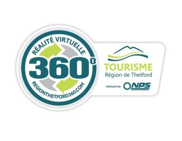 Logo : Réalité virtuelle 360 degrés - www.regionthetford360.com (Groupe CNW/Société de développement économique de la région de Thetford (CLD))