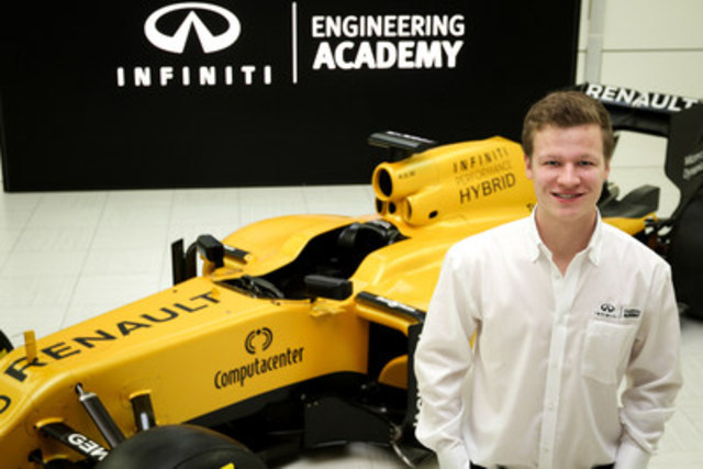 Félix Lamy, le vainqueur canadien de l''INFINITI Engineering Academy 2016 (Groupe CNW/Infiniti)