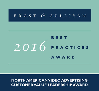 Frost & Sullivan recognizes Videology with the 2016 North American Customer Value Leadership Award.