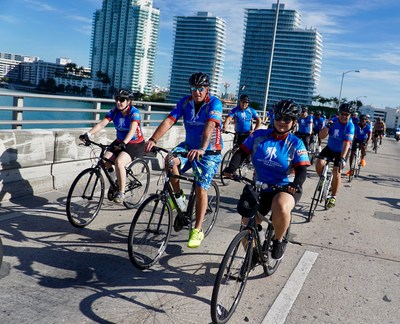 Wounded veterans cycle through Miami as part of the Wounded Warrior Project Soldier Ride.
