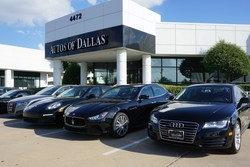 Test drive a number of pre-owned luxury cars at Autos of Dallas in Plano!