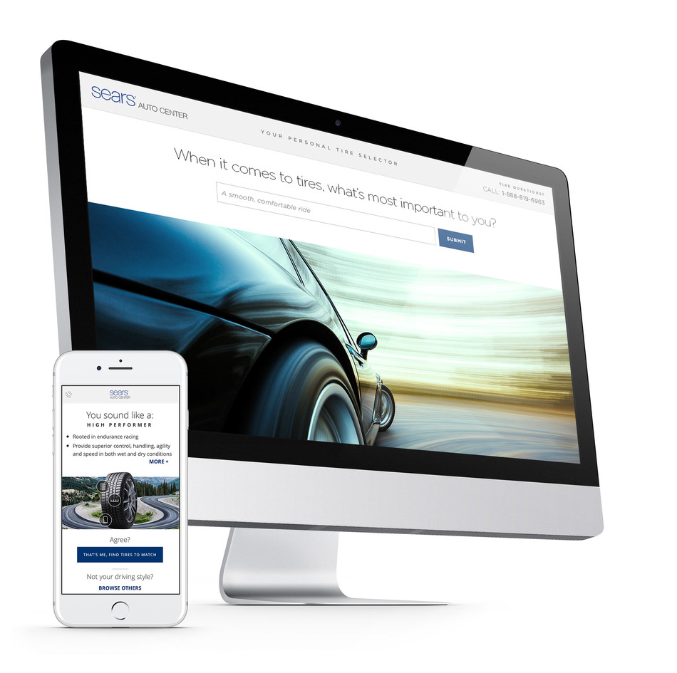"Sears Auto Center introduced the pilot launch of the ""Digital Tire Journey"" on January 18, 2017. The web app relies on IBM Watson Natural Language Classifier service to help Sears Automotive customers identify the appropriate tires to fit their driving preferences."