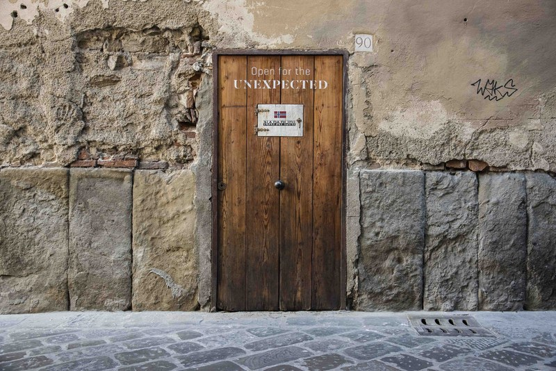 """Scattered around the city of Florence, Napapijri built five mysterious doors and encouraged people with a """"seekers"""" attitude to seek-out and discover the """"The Secret Collection""""."""