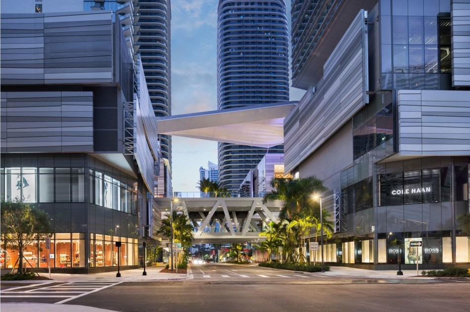 Brickell City Centre's open-air, three-level shopping center