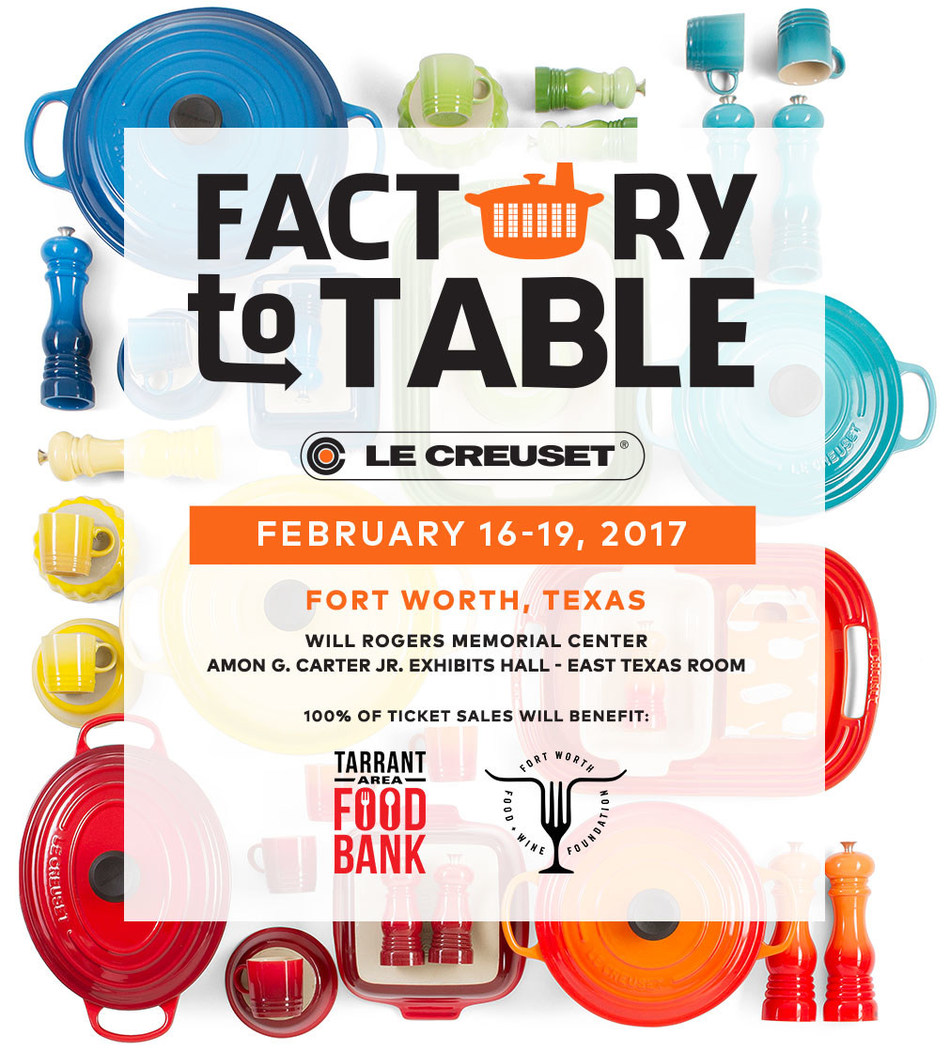 LE CREUSET'S SECOND FACTORY-TO-TABLE SALES EVENT