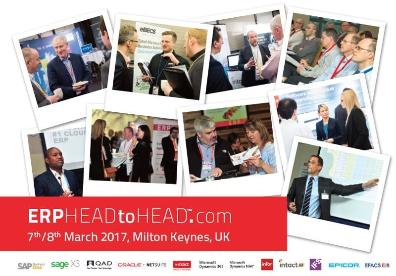 ERP HEADtoHEAD(TM) event: 12 leading ERP vendors compete for your attention. (PRNewsFoto/Lumenia Consulting)