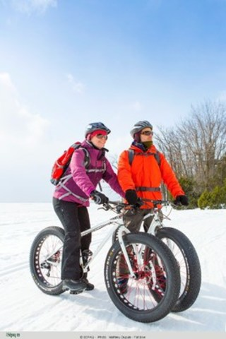Le vélo à pneus surdimensionnés gagne du terrain à la Sépaq. (Groupe CNW/Société des établissements de plein air du Québec)