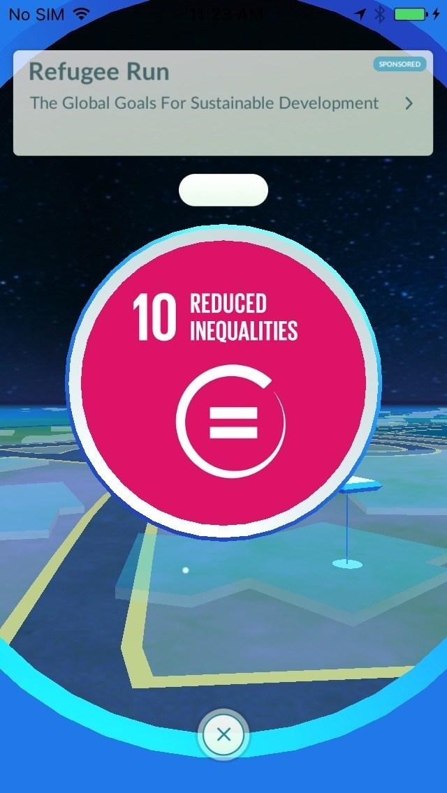 PokeStop 10 at Davos - Reduced Inequalities (PRNewsFoto/Niantic and The Pokemon Company)